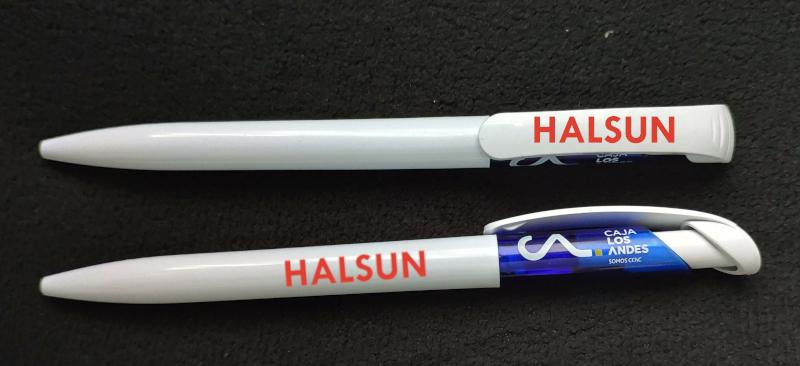 CAJA LOS ANDES Logo Plastic Ballpoint Pens